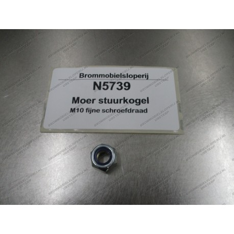 Moer stuurkogel metrisch fijn M10x1.25