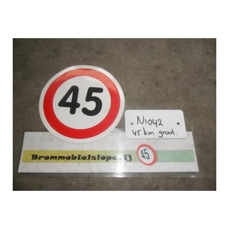 Sticker 45KM (Ø 16 cm)