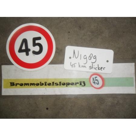 Sticker 45KM (Diameter = 10 cm)